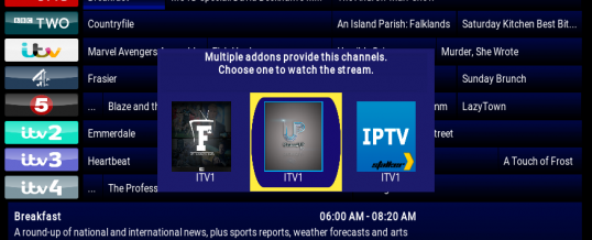Change Linked Source in iVue TV Guide